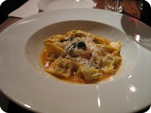 """Veal & pork agnolotti with a light meat sauce"""